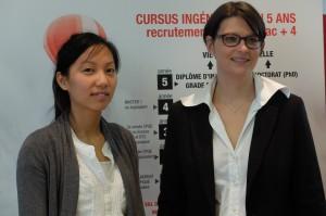 Binôme à l'INSA Centre Val de Loire : Julie UNG, étudiante en 3ème année et son mentor Alexandra Beauvallet, contrôleuse de gestion de la zone Centre à RATP Dev